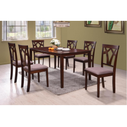 ENSEMBLE TABLE A MANGER + 6 CHAISES