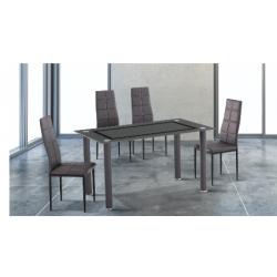 ENSEMBLE TABLE A MANGER + 4 CHAISES ALEXIS