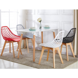 ENSEMBLE TABLE + CHAISES SCANDINAVE