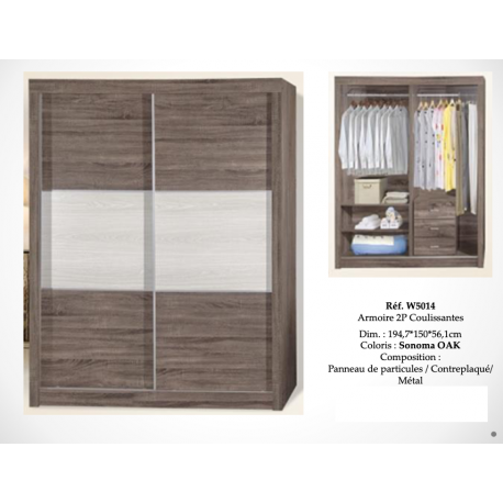 Armoire 2P Coulissantes W5014