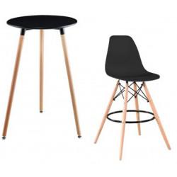 Ensemble Table Haute + 4 Tabourets