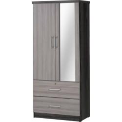 Armoire 932m 2p + 2t + Miroir