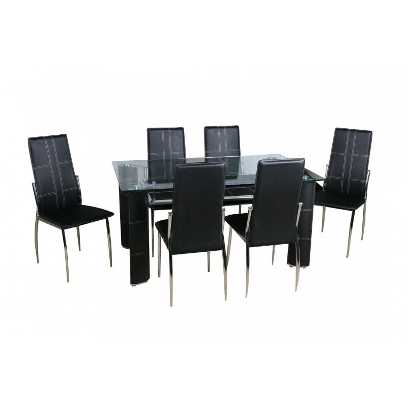 salle a manger 6 chaises moderne