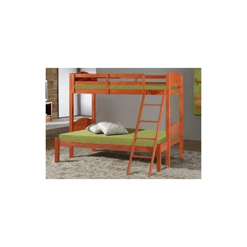lit superpos bois 3 p. Black Bedroom Furniture Sets. Home Design Ideas