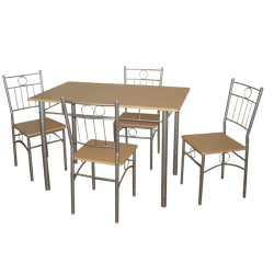 ENSEMBLE TABLE JXA041 + 4 Chaises
