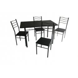 ENSEMBLE TABLE ET 6 CHAISES - BLEU