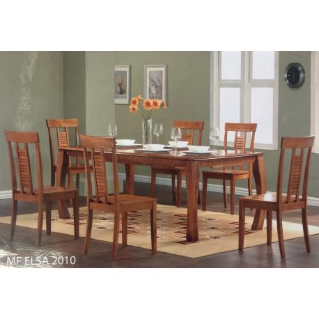 Ensemble Table Elza 2m avec 6Chaises