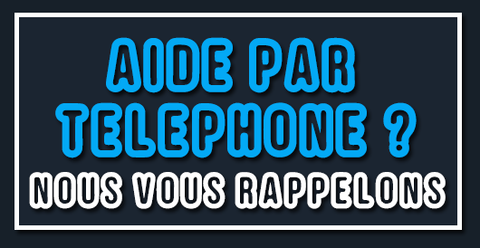 Nous vous rappelons aide par téléphone